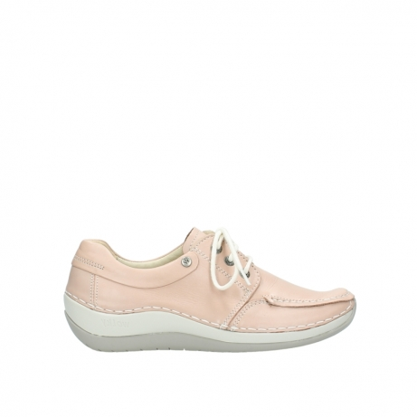wolky lace up shoes 04800 coral 20620 old rose leather