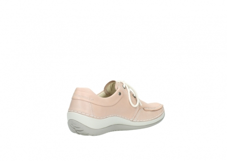 wolky lace up shoes 04800 coral 20620 old rose leather_10