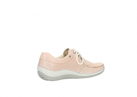wolky lace up shoes 04800 coral 20620 old rose leather_11