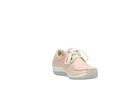 wolky lace up shoes 04800 coral 20620 old rose leather_17