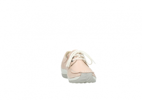wolky lace up shoes 04800 coral 20620 old rose leather_18
