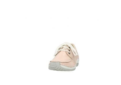 wolky lace up shoes 04800 coral 20620 old rose leather_20
