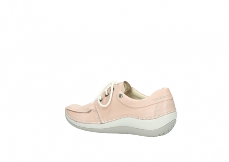 wolky lace up shoes 04800 coral 20620 old rose leather_3