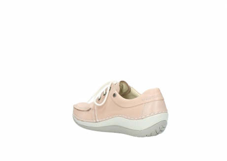 wolky lace up shoes 04800 coral 20620 old rose leather_4