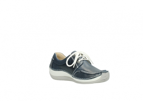 wolky lace up shoes 04800 coral 80870 blue leather_16