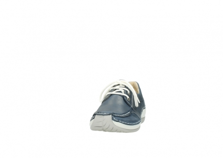 wolky lace up shoes 04800 coral 80870 blue leather_20