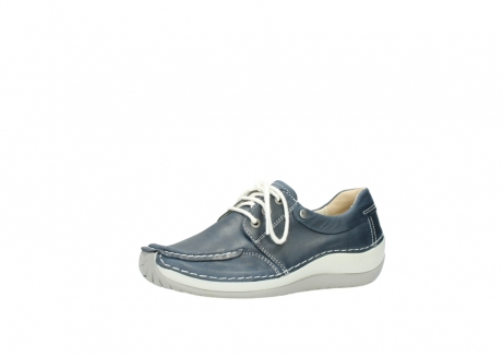 wolky lace up shoes 04800 coral 80870 blue leather_23