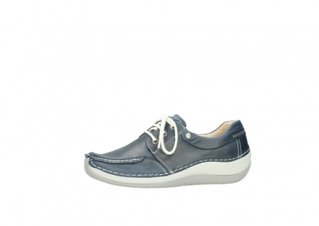 wolky lace up shoes 04800 coral 80870 blue leather_24