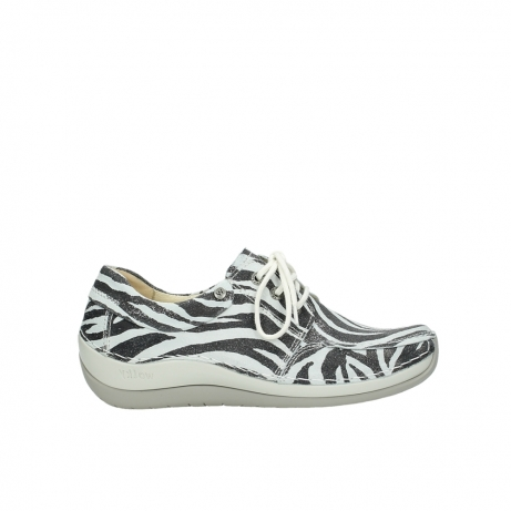 wolky lace up shoes 04800 coral 90120 zebraprint metallic leather