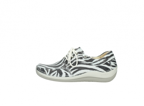 wolky lace up shoes 04800 coral 90120 zebraprint metallic leather_1