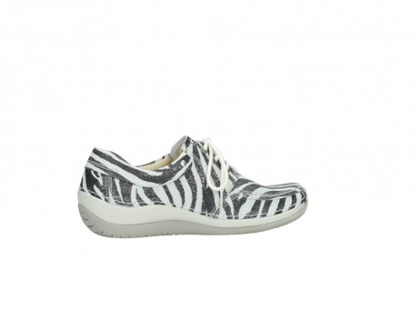 wolky lace up shoes 04800 coral 90120 zebraprint metallic leather_12
