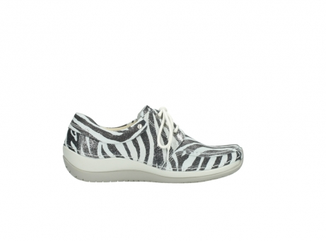 wolky lace up shoes 04800 coral 90120 zebraprint metallic leather_13