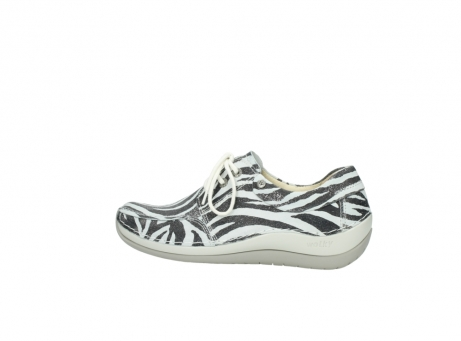 wolky lace up shoes 04800 coral 90120 zebraprint metallic leather_2