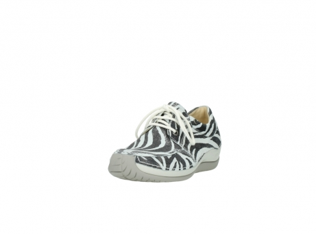 wolky lace up shoes 04800 coral 90120 zebraprint metallic leather_21