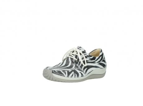 wolky lace up shoes 04800 coral 90120 zebraprint metallic leather_22
