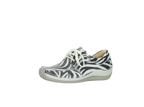 wolky lace up shoes 04800 coral 90120 zebraprint metallic leather_23