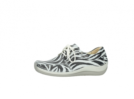 wolky lace up shoes 04800 coral 90120 zebraprint metallic leather_24