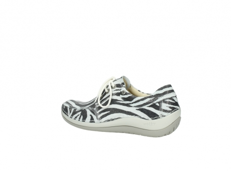 wolky lace up shoes 04800 coral 90120 zebraprint metallic leather_3