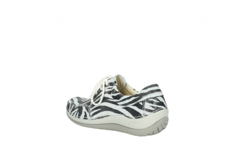 wolky lace up shoes 04800 coral 90120 zebraprint metallic leather_4