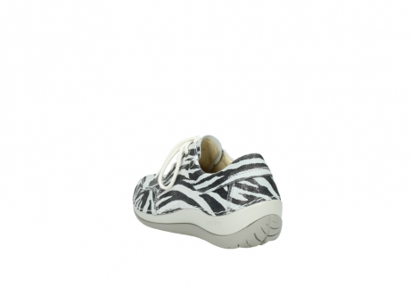 wolky lace up shoes 04800 coral 90120 zebraprint metallic leather_5