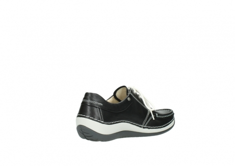 wolky chaussures a lacets 04805 azura 70070 nubuck noir_10