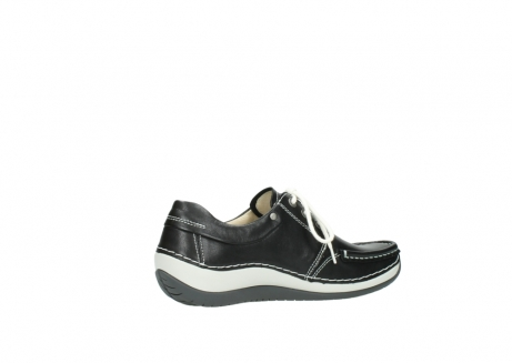 wolky chaussures a lacets 04805 azura 70070 nubuck noir_11