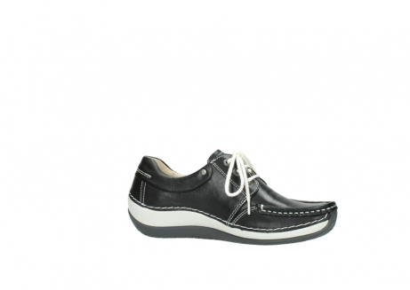 wolky chaussures a lacets 04805 azura 70070 nubuck noir_14