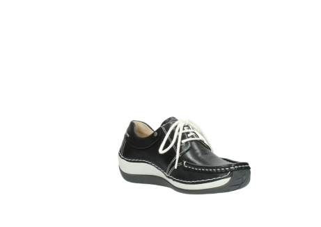 wolky chaussures a lacets 04805 azura 70070 nubuck noir_16