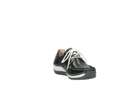 wolky chaussures a lacets 04805 azura 70070 nubuck noir_17