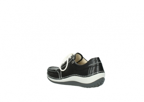 wolky chaussures a lacets 04805 azura 70070 nubuck noir_4