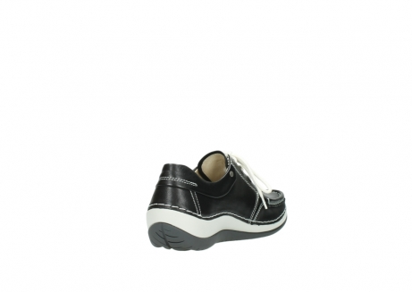 wolky chaussures a lacets 04805 azura 70070 nubuck noir_9