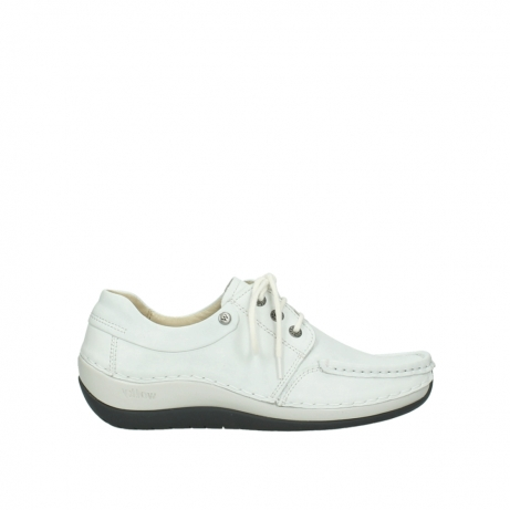 wolky chaussures a lacets 04805 azura 70100 cuir blanc
