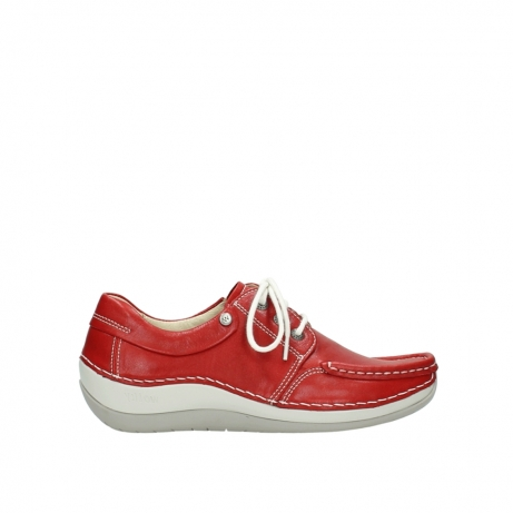 wolky lace up shoes 04805 azura 70570 red summer leather