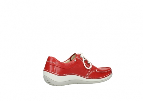 wolky chaussures a lacets 04805 azura 70570 cuir rouge_11
