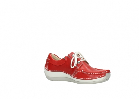wolky chaussures a lacets 04805 azura 70570 cuir rouge_15