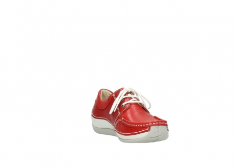 wolky chaussures a lacets 04805 azura 70570 cuir rouge_17