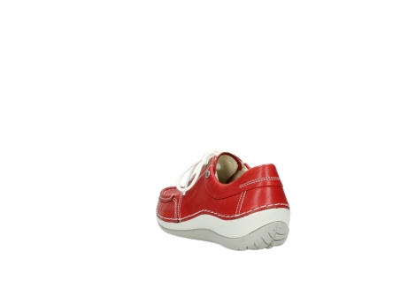 wolky chaussures a lacets 04805 azura 70570 cuir rouge_5