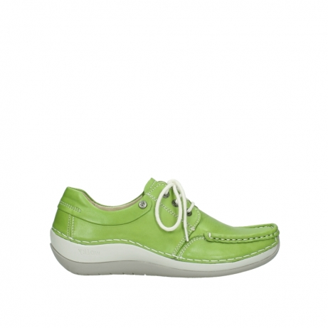 wolky lace up shoes 04805 azura 70750 lime leather