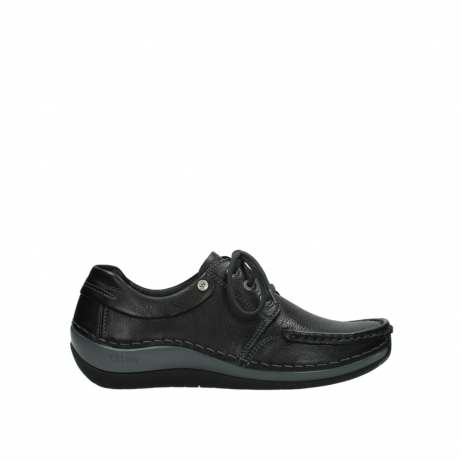 wolky chaussures a lacets 04825 coral winter 30001 cuir noir