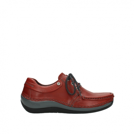wolky lace up shoes 04825 coral winter 30541 winter red leather