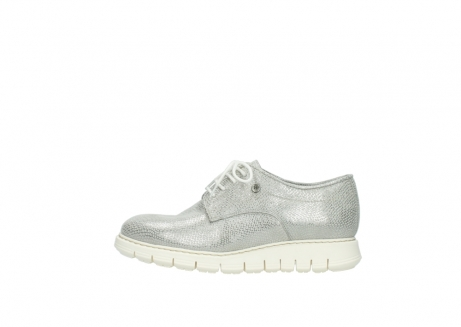 wolky lace up shoes 05025 daylight 20120 off white silver printed leather_1
