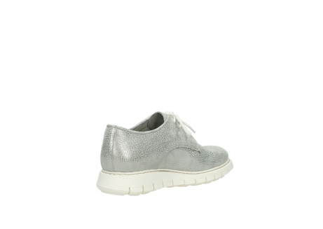 wolky lace up shoes 05025 daylight 20120 off white silver printed leather_10