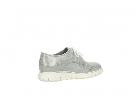 wolky lace up shoes 05025 daylight 20120 off white silver printed leather_11
