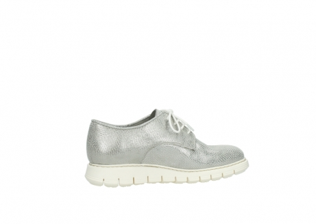wolky lace up shoes 05025 daylight 20120 off white silver printed leather_12