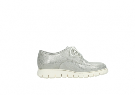 wolky lace up shoes 05025 daylight 20120 off white silver printed leather_13