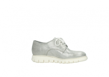 wolky lace up shoes 05025 daylight 20120 off white silver printed leather_14