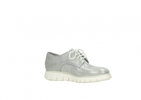 wolky lace up shoes 05025 daylight 20120 off white silver printed leather_15