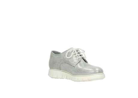 wolky lace up shoes 05025 daylight 20120 off white silver printed leather_16