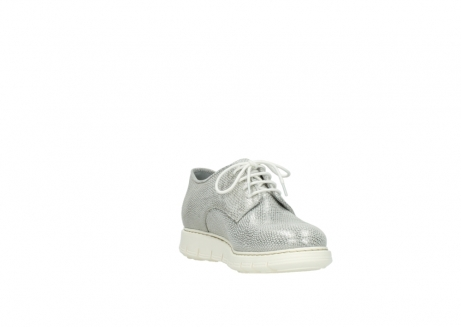 wolky lace up shoes 05025 daylight 20120 off white silver printed leather_17