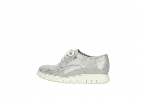 wolky lace up shoes 05025 daylight 20120 off white silver printed leather_2